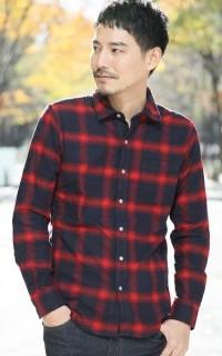 ネルシャツ中③