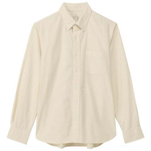 無印良品オーガニックコットン洗いざらしオックスボタンダウンシャツ
